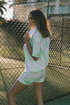 Free Spirit Shorts - Lime Tie Dye