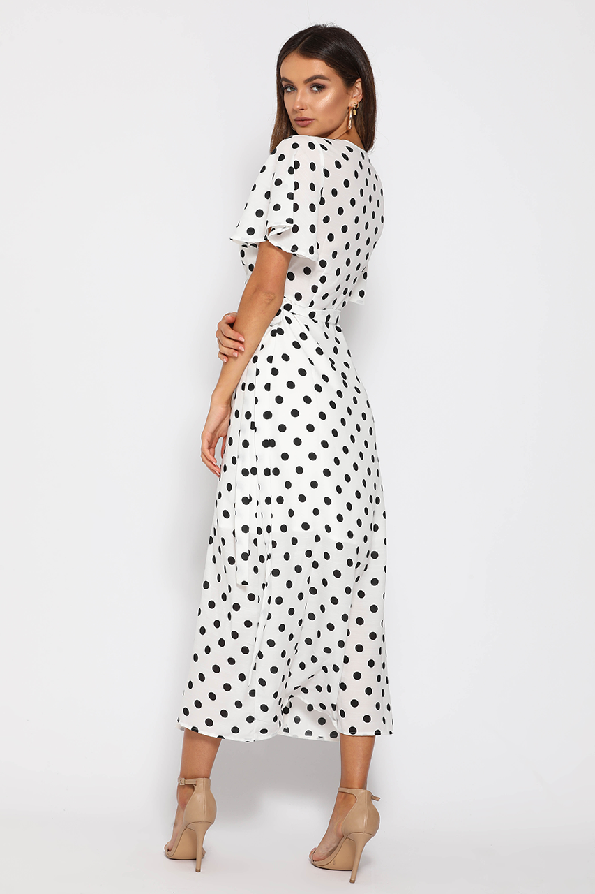 HOLSTEIN WRAP DRESS - SPOT