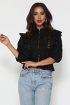 ANNABEL BLOUSE - BLACK