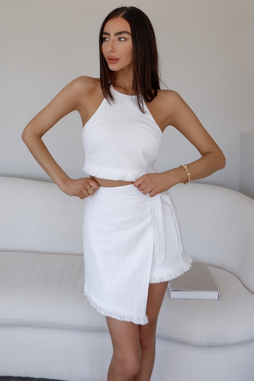 Chai Mini Skirt -White