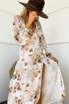 Halenne Dress - White Floral