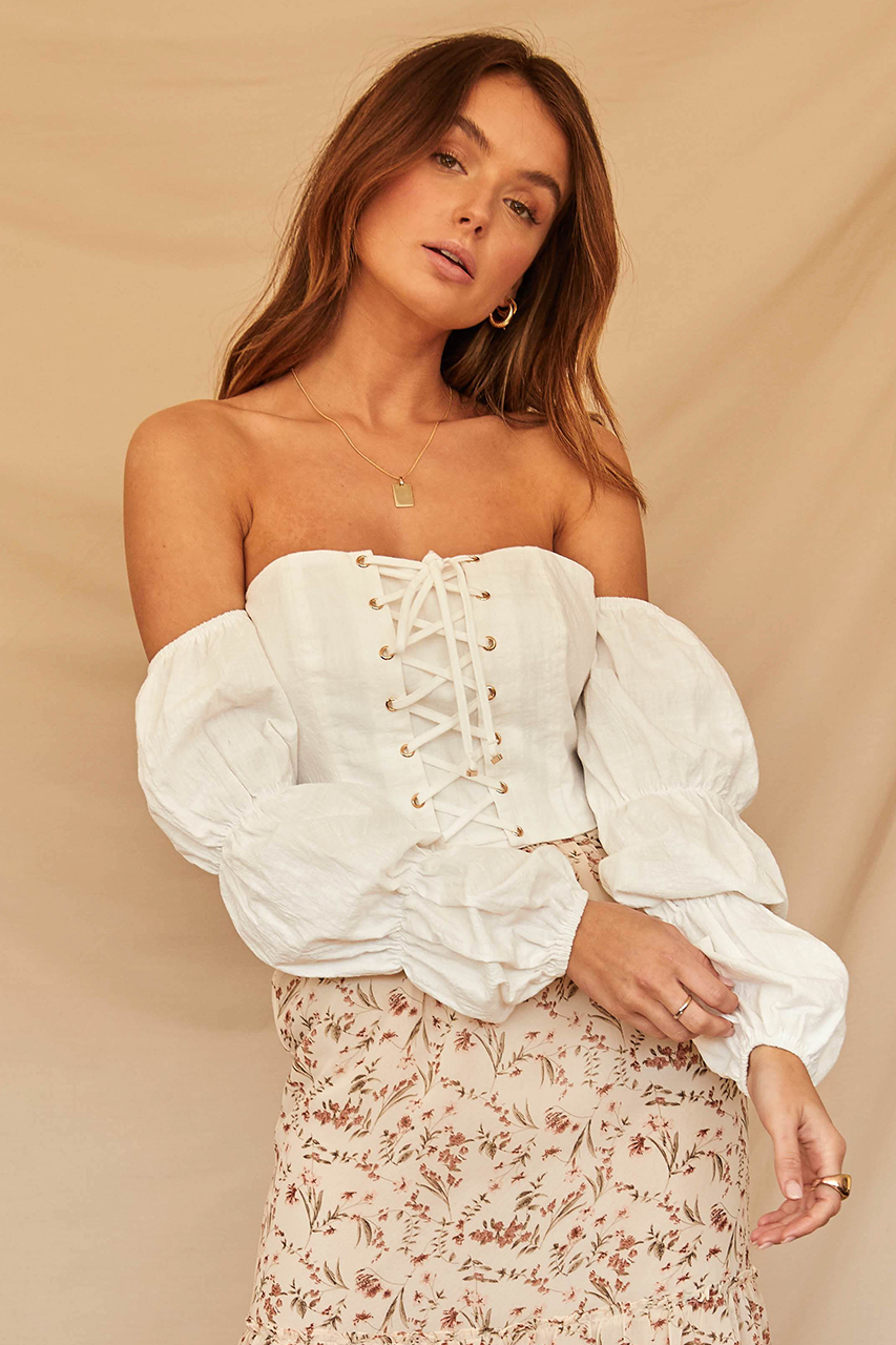 Jessamine Top-White