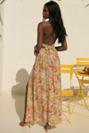 Holly Maxi Skirt - Peach Floral