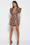 SOOKIE MINI DRESS - BLACK FLORAL