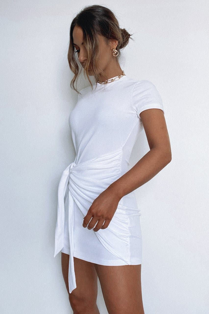 Winnie Shirt Dress - White