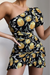 Limoncello Cut-Out Dress - Lemon Print