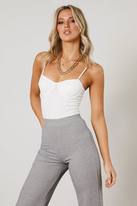 Ivy Rib Top - White
