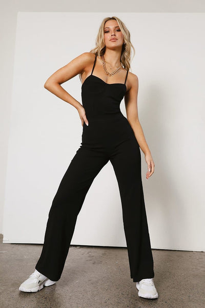 Ivy Rib Pants - Black