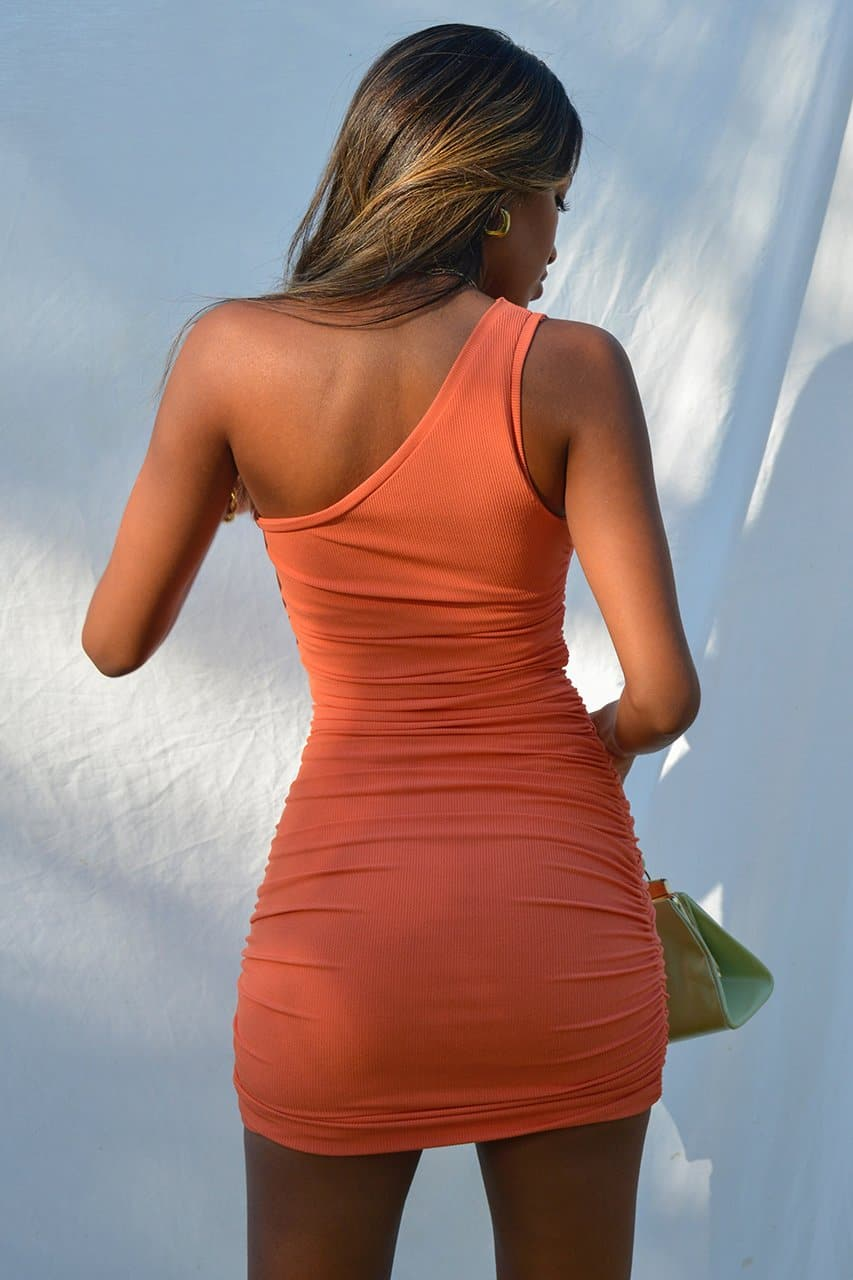 Izi Side Dress - Coral