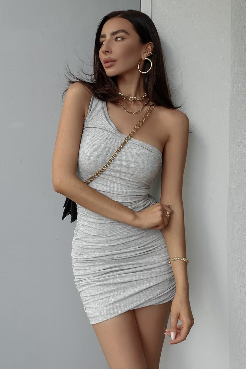 Izi Side Dress - Grey Marle
