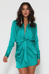 RUBY SHIRT  DRESS - TEAL