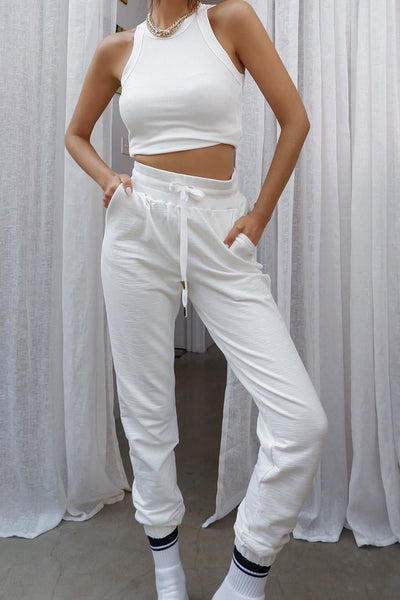 Tenley Track Pants - White
