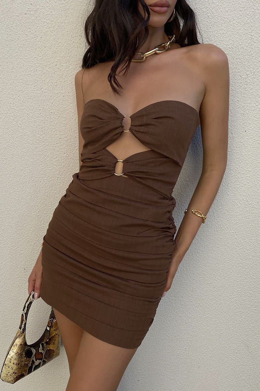 Joslin Dress - Chocolate