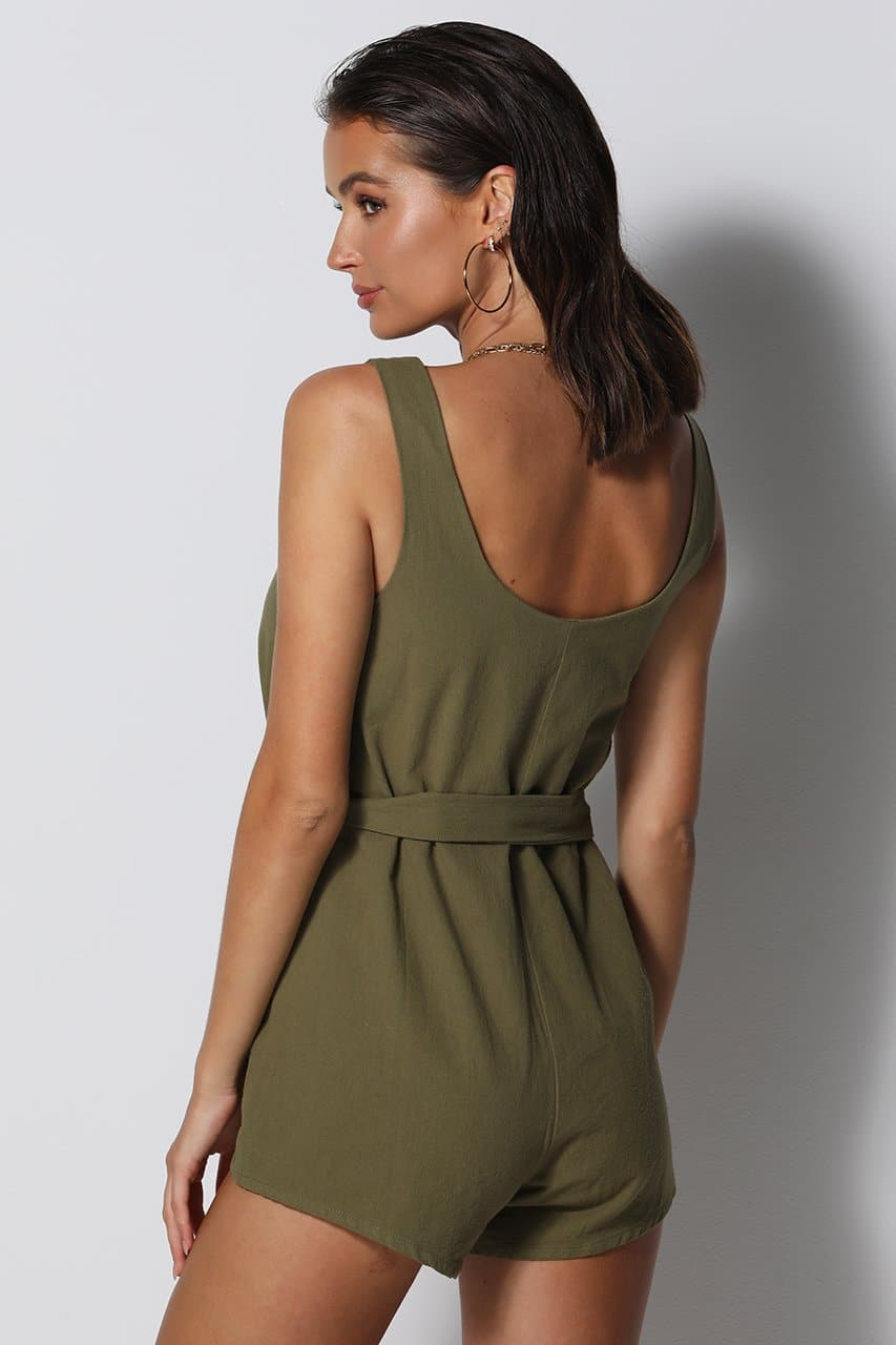 All Day Playsuit - Khaki