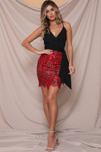 Kiss Kiss Mini Skirt - Red