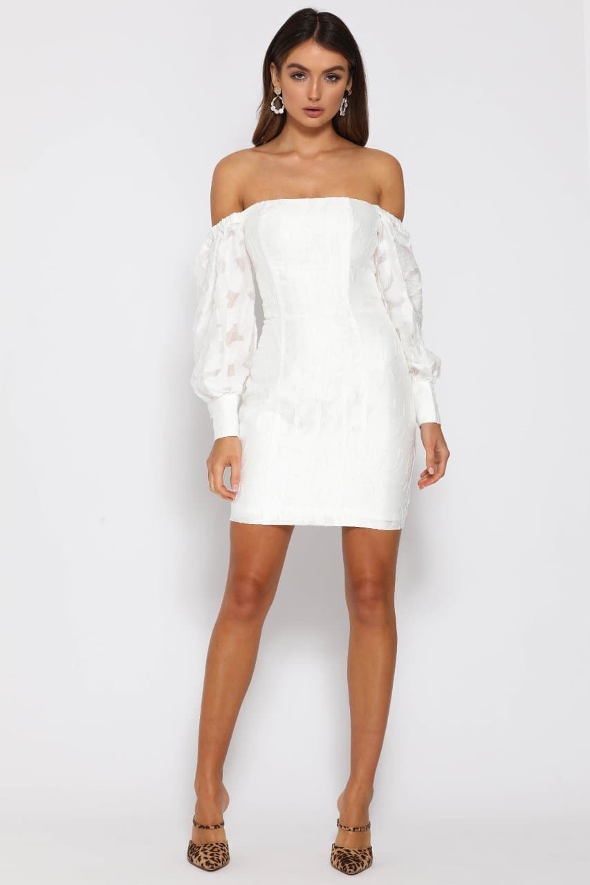 NATALIA MINI DRESS - WHITE
