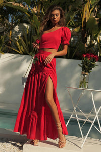 Kaylee Maxi Skirt - Red