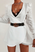 Liv Ls Wrap Dress - White