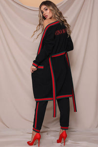 Runaway Cardi (With Logo) - Black