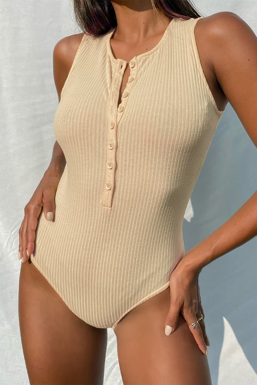 Love Me Bodysuit - Sand