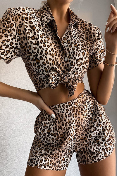 Chelsea Button Up Shirt - Leopard