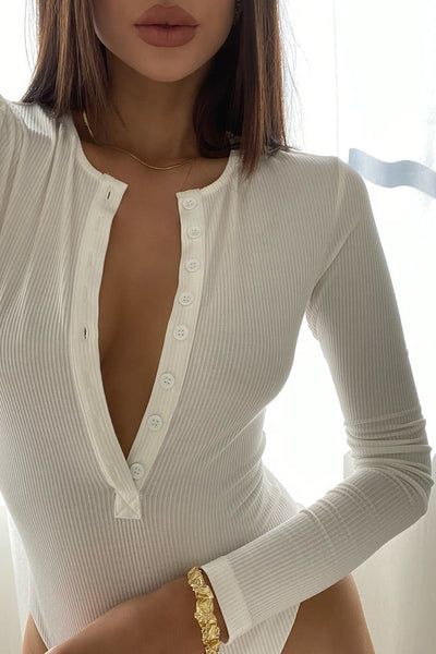 Knockout Bodysuit - White
