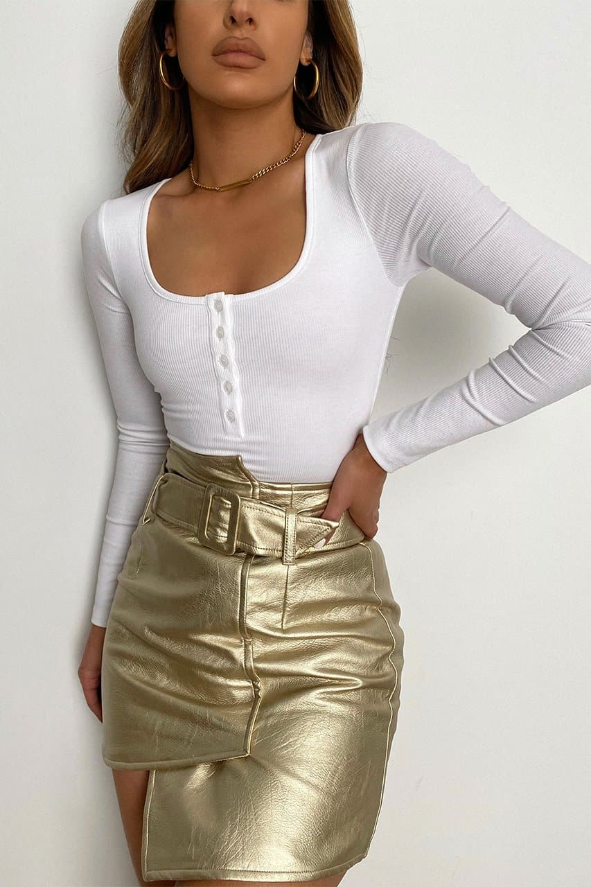 Goldie Mini Skirt - Gold