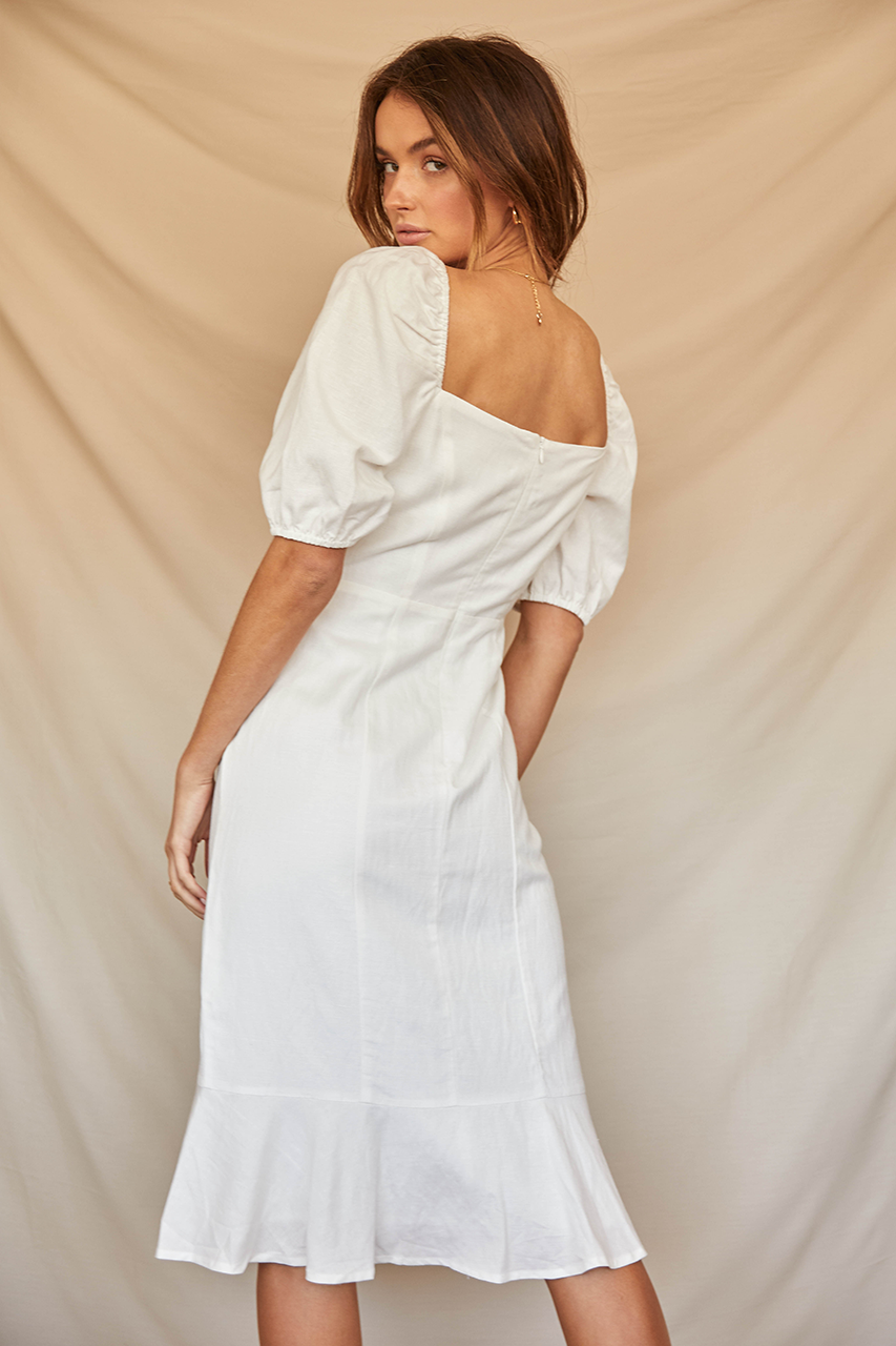 Aimee Midi Dress-White
