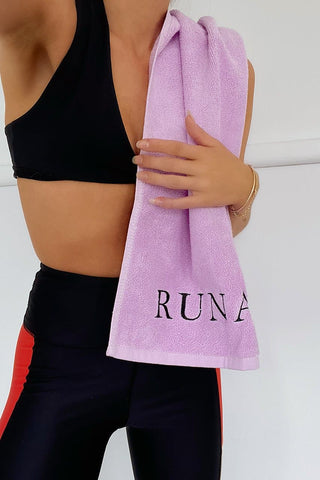 Runaway Gym Towel - Lilac/Black