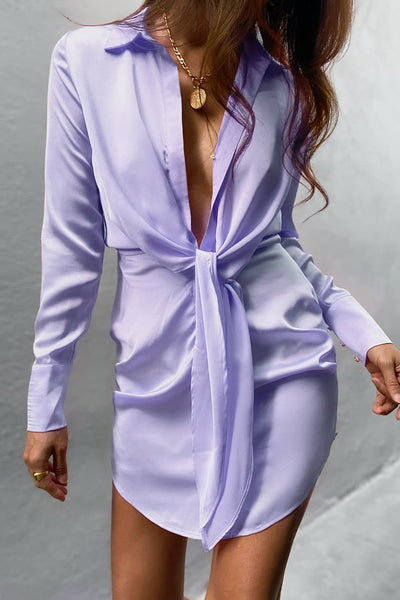 Ruby Shirt Dress - Lilac