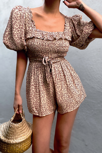 Priya Playsuit - Red Print