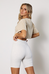 Riley Cropped Tee - Sand