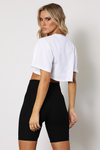 Riley Cropped Tee - White