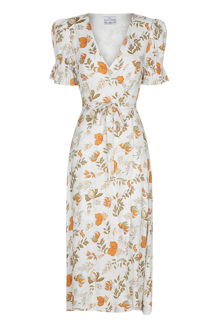 Jolene Wrap Dress - White