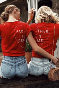 Partner In Crime Tee (Right) - Red