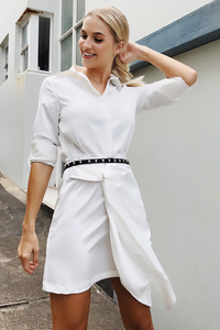 Risky Business Shirt Dress - White