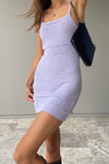 Rose Knit Dress - Lilac