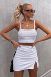 Rose Knit Top - White