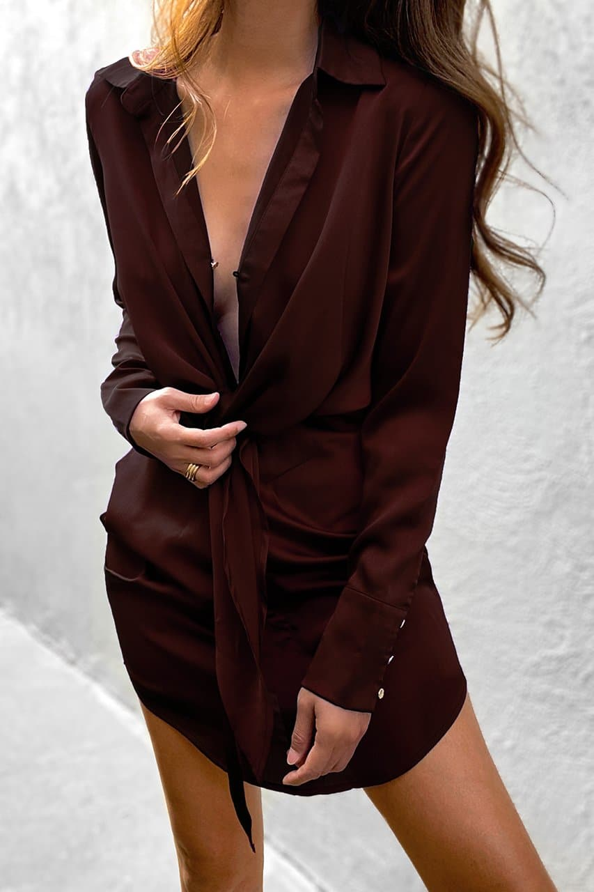 Ruby Shirt Dress - Chocolate
