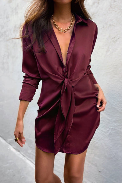 Ruby Shirt Dress - Wine