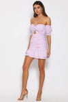 PROM PARTY MINI DRESS - LAVENDER