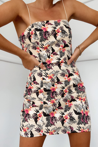 ALOHA DRESS-TROPICAL PRINT