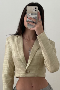 Soraya Cropped Jacket - Beige