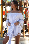 Azure Playsuit-Stripe