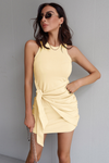 Tau Tie Dress - Lemon