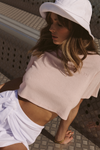 Terry Crop Top - Light Pink