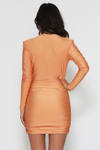 TIA MINI DRESS-CANTALOUPE