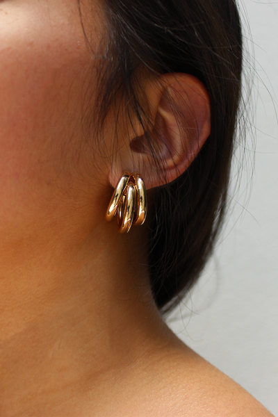 Tri Earrings - Gold
