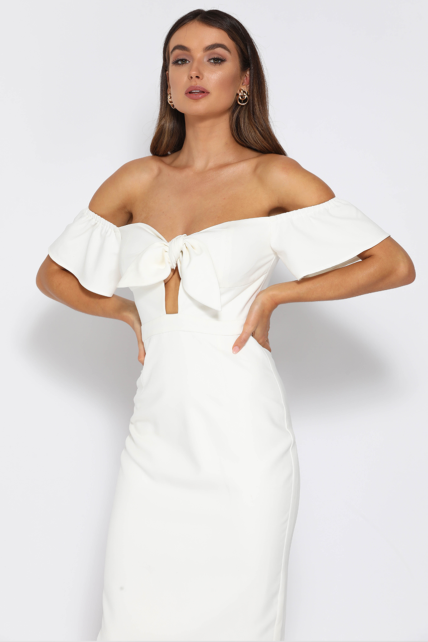 SECOND CHANCE DRESS-WHITE