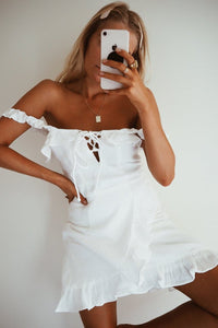 PAMELA MINI DRESS - WHITE